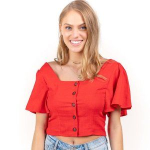 Francisca's collection red crop top